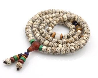 108 Star Moon Bodhi Seed Tibetan Buddhist Prayer Beads Mala Necklace  B108-XP-002