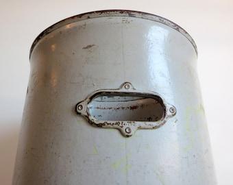 Vintage Large Industrial Textile Cylinder Storage