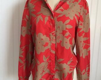 Vintage Red & Gold Shirt