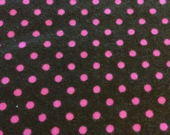 Hot Pink Dots on Brown - By the Yard