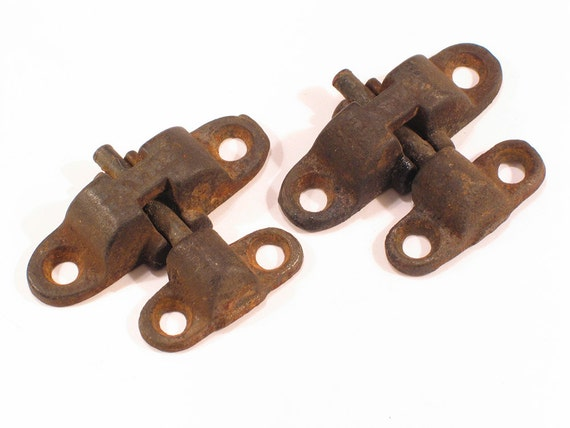 Pr Vintage Swivel Mirror Hinges Antique Furniture Hardware
