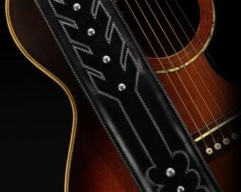 Custom Guitar Strap:  Black Arrow Guitar Strap