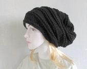 Women's Knit Hats, Women's Winter Hat, Women's Hats, Hand Knit Hat Women, Knit Hat Woman, Cable Knitted Hat Slouchy Hat