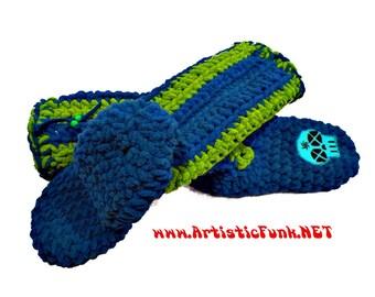 Boy's Slipper Socks, Slipper Socks Kids,Slipper Socks Men, Women, House Socks, Handcrafted Socks With Patches, Handmade Socks , Chunky Socks