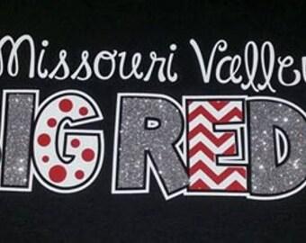 ORIGINAL DESIGN - Chevron Glitter Zebra Polka-dot Print Letters Team Spirit Shirt, Baseball Mom Shirt, Football Mom Shirt, The Walnut Street
