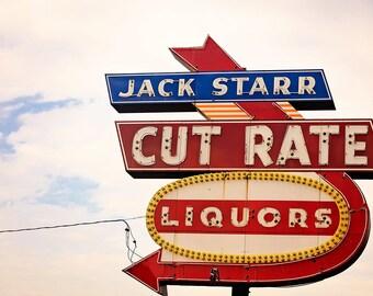 Home Bar Decor | Retro Wall Art | Jack Starr Liquors | Mad Men Art |