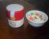 Felt Chicken Noodle Soup - New Size