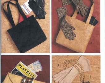 Butterick B5404 Sewing Pattern Evening Bags, Handbags, Purses, Gloves UNCUT