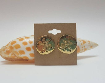 Vintage Trifari 80s Sand Dollar Clip On Earrings