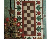 Thimbleberries Christmas Apple Applique Quilted Table Runner