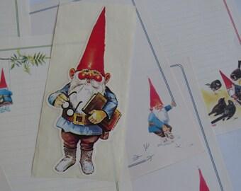 Vintage Gnome Stationery & Oversized Sticker Decal