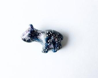 Galaxy Bear, Brooch, Wearable Art, Solar, Stary, Night, Miniature