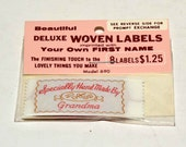 Deluxe Woven Labels -- Specially Hand Made By Grandma   8 Labels in Each Package