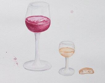 Tuscan Wine Original Illustration