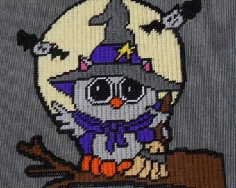 Halloween Owl Plastic Canvas Pattern