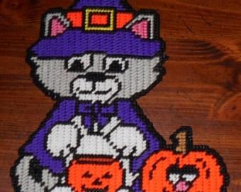 Halloween Kitty Costume Plastic Canvas Pattern