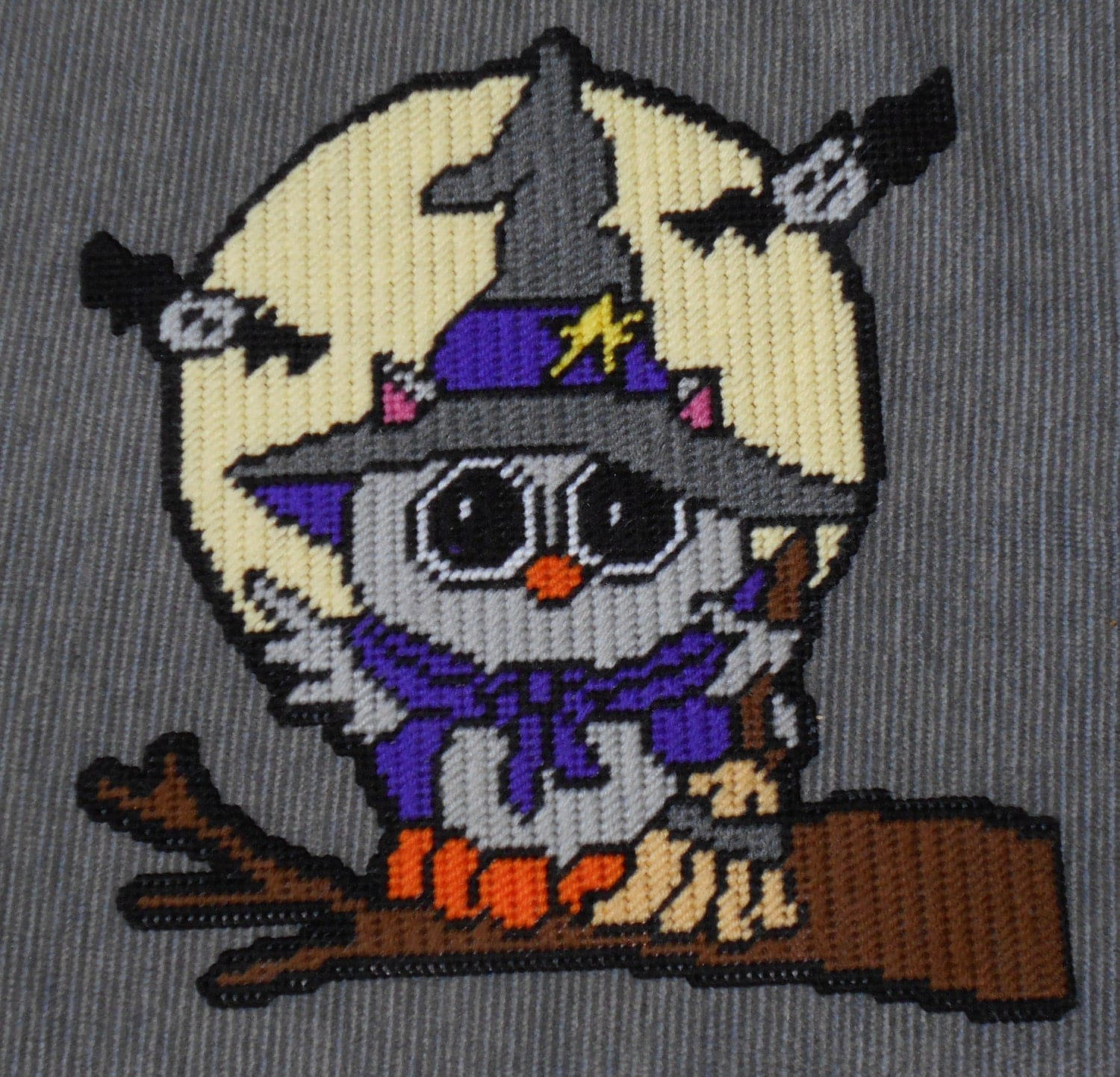This is a picture of Impertinent Free Printable Halloween Plastic Canvas Patterns