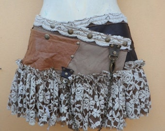 """20% OFF bohemian tribal gypsy bellydance fringed leather belt..38"""" to 46"""" waist or hips.."""