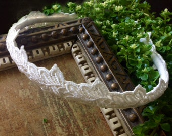bridal lace headband -AUTUMN- ivory