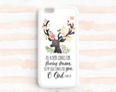 As a deer longs for flowing streams Psalm 42:1 Bible Verse Scripture Quote iPhone 7 SE 6 plus 5s 4s Case Galaxy s4 s5 s6 s7, Note 3 4 5 Qt05