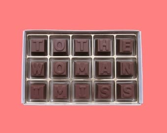Long Distance Relationship Girlfriend Gift for Her Romantic Anniversary Gift for Wife Valentines To The Woman I Miss Milk Chocolate Message