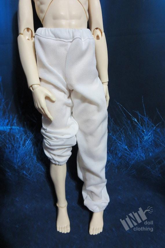 White 70cm BJD Baggy Sweat Pants