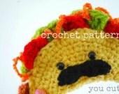 Crochet Pattern-Amigurumi Taco