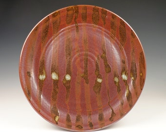 large iron-red plate