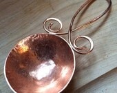 Coffee scoop, copper, copper spoon