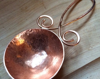 Coffee scoop, copper, copper spoon