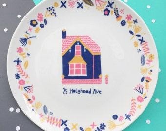 Personalised House Portrait Decorative Plate