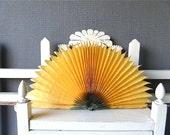 Vintage Advertising  Folding Hand painted Fan  Sunflower / Collectible Fan, Vintage fan,Accessories