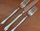 Vintage Silverware Stainless Flatware unmarked pattern BIN 19