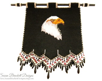 Beaded Eagle Wall Decor Native American Eagles Hanging Display Bead Woven Tapestry Decorations- CLEARANCE ITEM