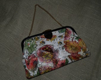 Gorgeous vintage purse or clutch - realtered art
