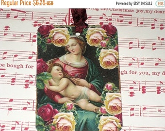 Christmas in July Christmas Religious Mother and Child Gift Tag Set of 6 ECS
