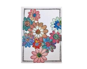 Paper Flower Garden Series on White (PFGW-0002)