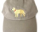 Golden Retriever baseball cap, golden retriever baseball cap, golden retriever ball cap, golden retriever cap