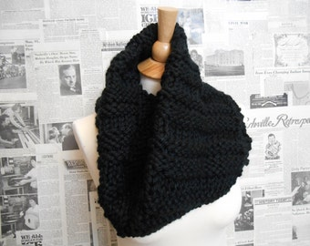 Beautifully Black Garter Ridge Cowl