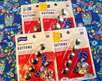 Vintage Prims Covered Buttons,  Covered Button Kit, make your own buttons, unopened package