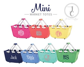 Monogrammed Mini Market Tote -Market Tote, Monogramed Easter Basket, Personalized Tote, Monogram Marget Tote, Monogram Tote, Organization