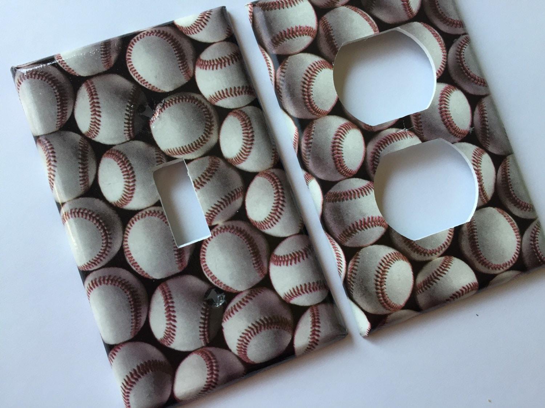 Baseball Light Switch Plate Cover Bedroom Decor