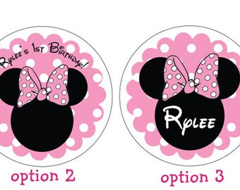 Minnie Mouse Sticker in Light Pink
