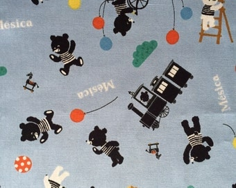 Cute bear Japanese cotton fabric FQ