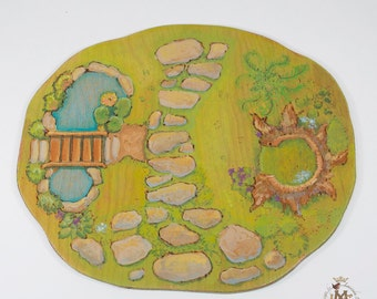 Painted wood Spring playscape