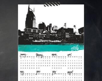 2016 Yearly Printable Calendar - i heart Nashville