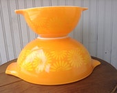 Two Sunflower Pyrex Cinderella Bowels