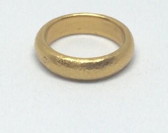 24k 5mm Wide Wedding Band/Stacking ring