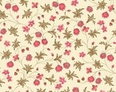 Dargate Vines Cream Little PInk Blossom by Margo Krager for Andover Fabrics
