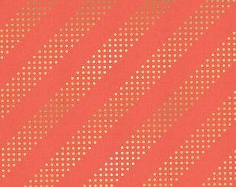 Gelato Metallic Orange Stripe by Cotton + Steel